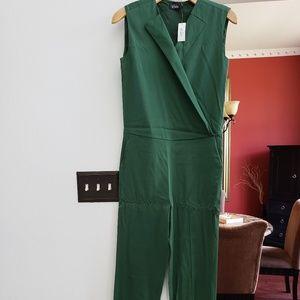 Kate Spade Saturday green vest jumpsuit